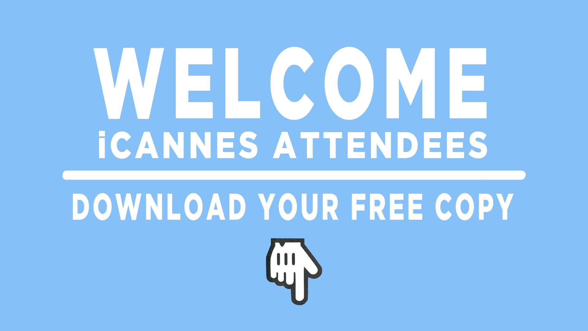 iCannes Welcome