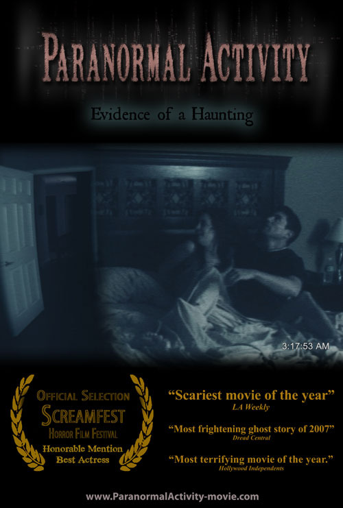 Original Paranormal Activity Poster. http://filmtrooper.com