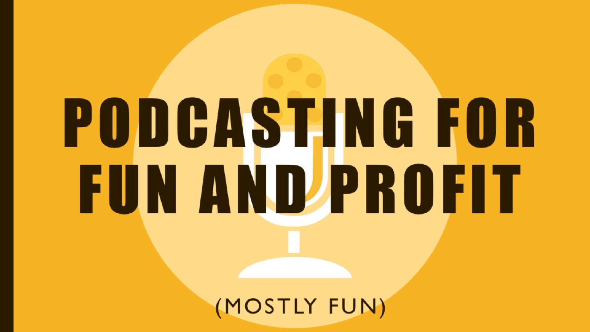 Podcasting Presentation Cover